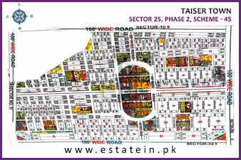 80 Sqy Corner Plot for Sale in Sector 25 Phase 2 Taiser Town Karachi