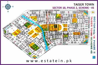 120 Sqy Plot for Sale in Sector 18 Phase 2 Taiser Town Karachi