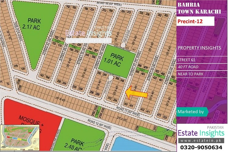 Ali Block 125 Sqy Plot for Sale in Bahria Town Karachi