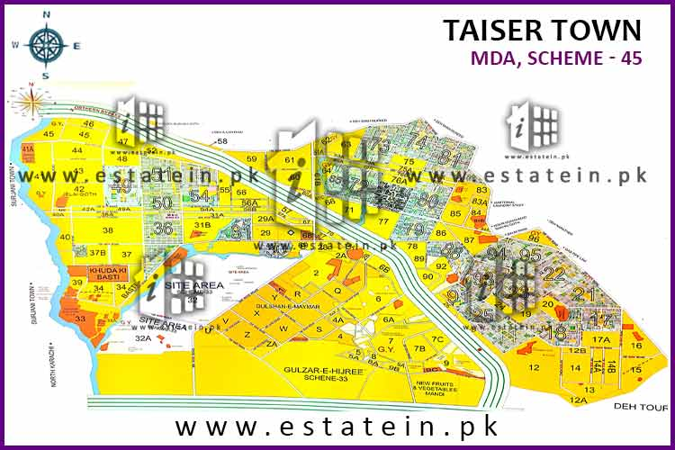 120 Sqy Plot For Sale Sector 72 Phase 1 Taiser Town Karachi