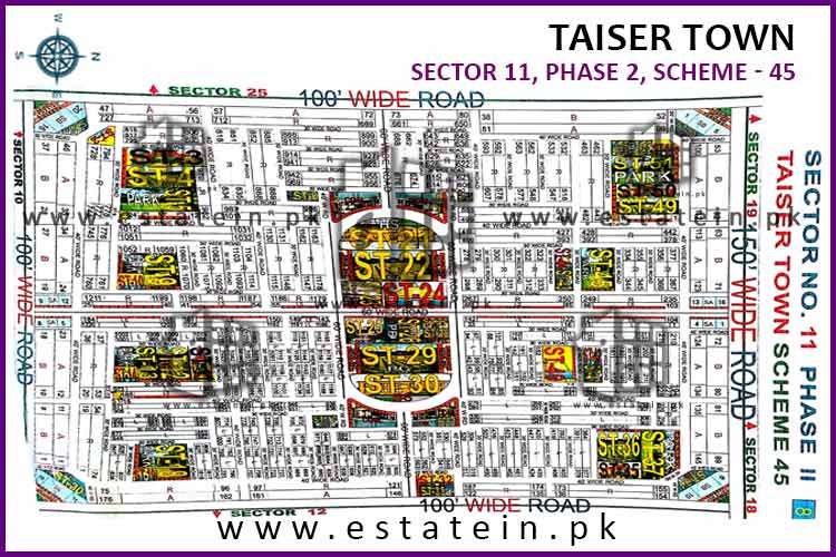 80 yd Plot in Sec 11 Ph 2 Taiser Town For Sale