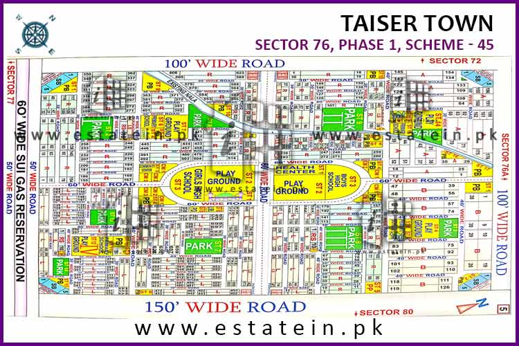 120 yards plot for sale in Sector 76/1 Phase 1 Taiser Town