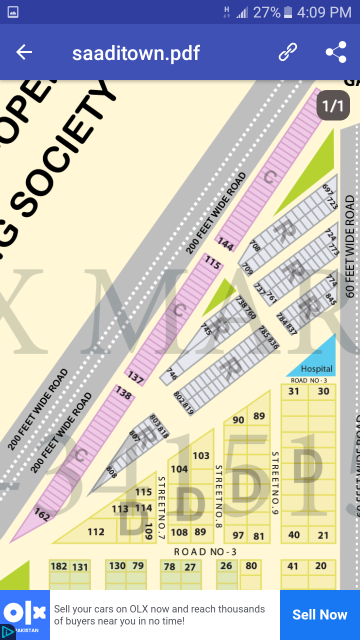 Saadi Garden Block 1 Commercial Plot for Sale
