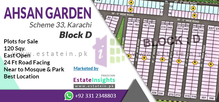 120 Sq. Yards Plot For Sale in Ahsan Garden Scheme 33