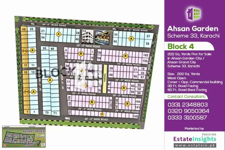 200 Sqy Plot For Sale In Block 4 Ahsan Grand City