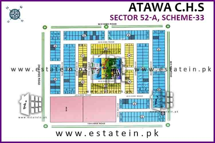 200 Yards West Open Plot for Sale in Atawa CHS Scheme 33